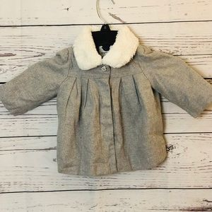 Gymboree Baby Girl Sparkly Gray winter Coat